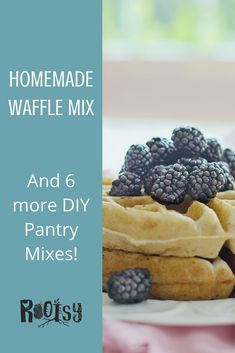 Mix up this easy homemade waffle mix fast! Add this breakfast mix, plus 6 others to your pantry for easy, healthy baking recipes. Homemade Waffle Mix, Homemade Waffles, Homemade Desserts, My Recipes, Baking Recipes, Healthy Recipes, Frugal Meals, Healthy Baking, Simple Living
