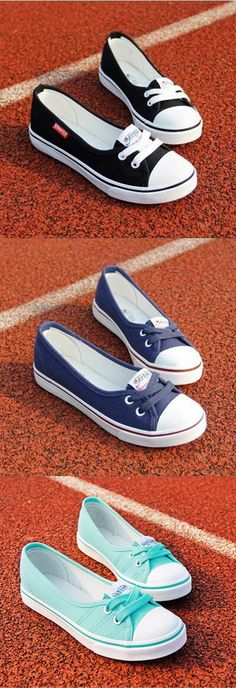 Casual Canvas Lace Up Shoes Large Size Slip On Flats Totally awesome running shoes. Lace Up Shoes, Cute Shoes, Me Too Shoes, Flats, Shoes Sandals, Looks Cool, Boat Shoes, Tankini, Fashion Shoes
