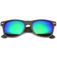 a116b01c57 Mens Horn Rimmed Sunglasses With UV400 Protected Mirrored Lens
