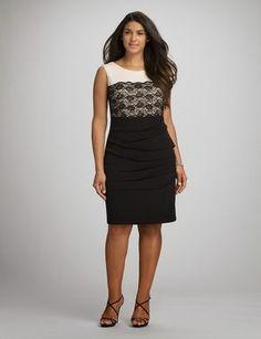 Plus Size Lace Colorblock Dress Fat Fashion, Womens Fashion, Evening Dresses, Formal Dresses, Colorblock Dress, Elegant Outfit, Plus Size Dresses, Party Dress, Couture
