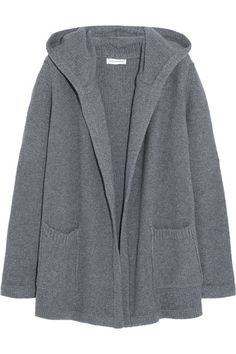 Anthracite merino wool and cashmere-blend Slips on 90% merino wool, 10% cashmere Hand wash or dry clean