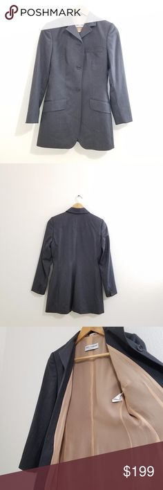 Dolce and Gabbana Blazer Women's Size 4 Dolce and Gabbana Blazer Women's Size 40 (US size 4). Great condition, very stylish, 100% wool but not itchy. Fantastic tailoring. Made in Italy. Suit. Italian size 40 is US size 4. Grey Dolce & Gabbana Jackets & Coats Blazers