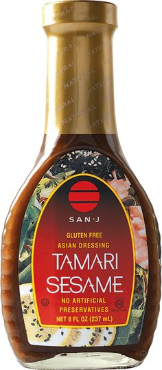 San-J creates a variety of Gluten Free Tamari Soy Sauces and Asian Cooking Sauces, all Non-GMO verified.