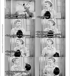 """Ricky: """"I made a date to go dipsy fishing. Lucy And Ricky, Lucy Lucy, I Love Lucy Show, Lucille Ball Desi Arnaz, The Lone Ranger, Old Movie Stars, Old Shows, Tv Show Quotes, Fishing Humor"""