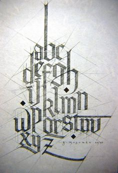 Type & Lettering Inspiration | From up North --- geometric and oh-so dope