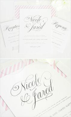 pink wedding invites #pinkweddingideas #pinkweddinginvitations #shineinvitations http://www.weddingchicks.com/2014/01/14/shine-wedding-invitations/