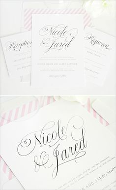 pink wedding invites #pinkweddingideas #pinkweddinginvitations #shineinvitations http://www.weddingchicks.com/2014/01/14/shine-wedding-invitations/