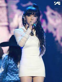 "Park Bom at the 2NE1 ""All or Nothing"" concerts. http://www.kpopstarz.com/articles/98613/20140708/park-bom-2ne1-drug-scandal.htm"