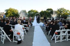 brookfield zoo outdoor wedding ceremony