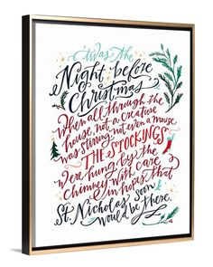 Christmas Art - Twas The Night Before Christmas canvas art by Lindsay Letters.
