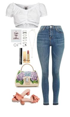 """Paris"" by elo379 ❤ liked on Polyvore featuring GERMAN PRINCESS, Topshop, Ettika, Loeffler Randall, Dolce&Gabbana, Thomas Sabo, H&M, Yves Saint Laurent and NARS Cosmetics"