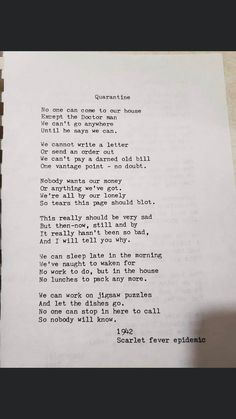 A poem written during the scarlet fever epidemic : Damnthatsinteresting Interesting Information, Interesting Stuff, Text Posts, Scarlet, Thinking Of You, Texts, Things To Think About, Poems, How To Become