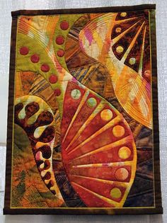 Gloria Loughman - from the cover of her book, Quilted Symphonies So bold! Fiber Art Quilts, Quilt Modernen, Art Textile, Landscape Quilts, Contemporary Quilts, Small Quilts, Applique Quilts, Fabric Art, Quilting Designs