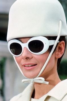 """Audrey Hepburn is the queen of vintage fashion. All white for """"How To Steal a Million."""" ©2014 FOX All Rights Reserved"""