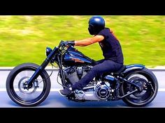 Harley Davidson FXSB Breakout Highway Slow Shooting - YouTube