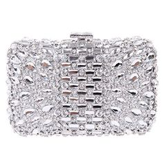 Fawziya® Bling Box Clutches And Evening Bags For Women Clutch Bag-Silver  Fawziya http 20dfdb00af833
