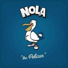 Cartoon Character Logo: New Orleans Pelicans