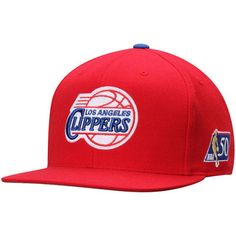 the latest e8642 f8cd1 Men s Mitchell   Ness Red LA Clippers NBA 50th Anniversary Fitted Hat
