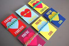 Happy colours: Rainbow Loom Valentines (with free printable cards!) | heyjenrenee | Bloglovin'