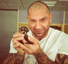 This is too much. Drax and a baby Rocket!<--- I love it!!!!