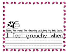 The Grouchy Ladybug Writing and Craftivity