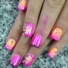 .Like this all but the bigger bling...one in the center by the cuticle would do it for me....