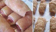 Cordon bleu bez smaženia, pečený v rúre Czech Recipes, Russian Recipes, Great Recipes, Dinner Recipes, Favorite Recipes, Blue Chicken, Cordon Bleu, Recipe Collection, Sausage