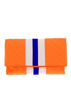 MSGM Neon Quilted Clutch