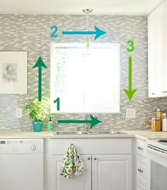 Kitchen Backsplash Window backsplash tile tips: if the tile will go around any windows