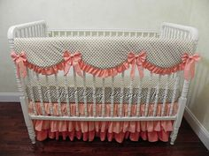 Custom Crib Bedding Set Ivy  Bumperless Crib by BabyBeddingbyJBD