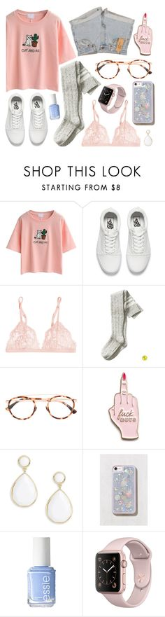 """cat and me"" by rumpelkiste on Polyvore featuring Mode, WithChic, Vans, Levi's, La Perla, Banana Republic, Mykita, Skinnydip, Trina Turk und Urban Outfitters"