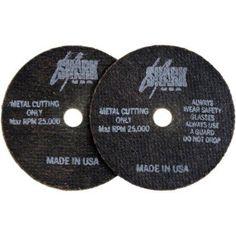 Shark Cutoff Wheels, 3 inch x 1/16 inch x 3/8 inch, 10pk, 54 Grit, Multicolor