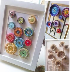 paper coiled flowers
