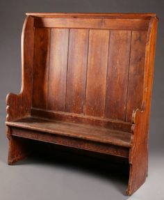 Lot:325: SETTLE BENCH., Lot Number:325, Starting Bid:$250, Auctioneer:Garth's Auction Inc., Auction:325: SETTLE BENCH., Date:07:00 AM PT - Jul 25th, 2008