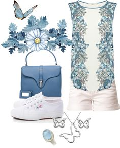 """""""Butterfly Blues"""" by damussel on Polyvore"""