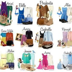 disney princess outfits today - Google Search