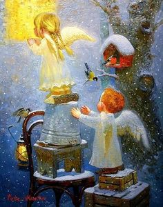 VK is the largest European social network with more than 100 million active users. Christmas Nativity, Christmas Angels, Christmas Art, Illustrations Vintage, Illustrations And Posters, Vintage Christmas Cards, Vintage Cards, Creation Photo, Angel Pictures