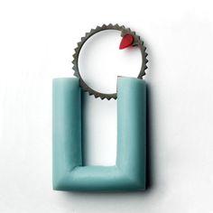 "Mona Wallström - ""timewheel"" brooches made from found objects  http://www.monawallstrom.se/"