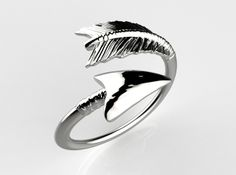 Spiral Arrow Ring by Likesyrup @Shapeways