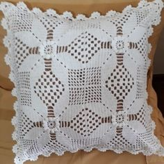 Decoupage, Throw Pillows, Crochet, Crochet Doilies, Monogram Alphabet, Pillow Covers, Crochet Table Runner, Crochet Pillow, Crochet Cushions