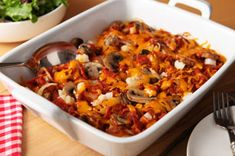 Frozen hash browns make this pepperoni and potato casserole a breeze to make. Bake until the cheese is melted—and enjoy! Cheesy Beef Enchiladas Recipe, Chicken Bacon Casserole, Leftover Turkey Casserole, Bacon Cheeseburger Casserole, Potatoe Casserole Recipes, Enchilada Recipes, Potato Recipes, Pierogi Casserole, Beef Recipes