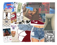 """""""she just want a nwa."""" by n0vacane-anon ❤ liked on Polyvore featuring MICHAEL Michael Kors, Prada, Wet Seal, NIKE, Avon, Versace and Mimco"""