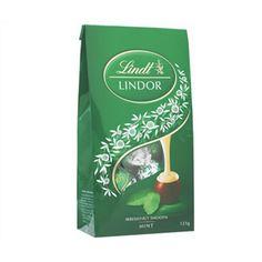 A bulk box of Lindor Balls Mint Bags.