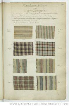 * Manufactures à Rouen // 1737 // Autres toiles rayées - Echantillons d'étoffes et de rubans recueillis par le Maréchal de Richelieu