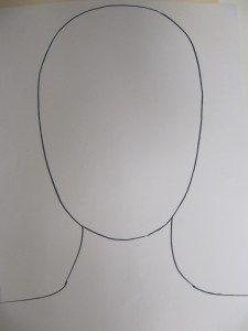 vlastní portrét - šablona
