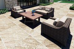 4 Piece Bayside Sofa Set (FP-BAY-4SS-SW) - Forever Patio