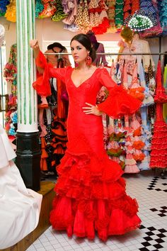 ¡Viva la Feria! Trajes de flamenca.