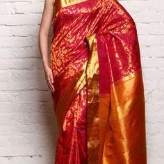 Buy Kanjivaram Sarees Online from our exclusive Kancheepuram Silk Sarees, Kanjeevaram & Kanchi Pattu Sarees online shopping collection at Indianroots.