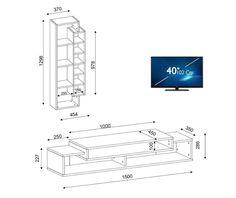 Regal First - Vivre. Tv Cabinet Design, Tv Wall Design, Wall Shelves Design, Tv Unit Furniture, Building Furniture, Home Decor Furniture, Tv Stand Room Divider, Backdrop Tv, Bed Designs With Storage