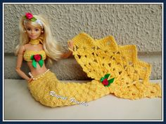rachelcrochet.wordpress.com #Sereia #Barbie #Sirena #Doll #Muñeca #Crochet #Annebrilho #RaquelGaucha